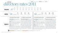 directory rates 2011 - Coastal Living