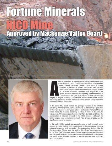 Coal People Magazine June 1, 2013 Fortune Minerals NICO mine ...