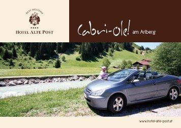 Cabriofolder downloaden - Hotel Alte Post