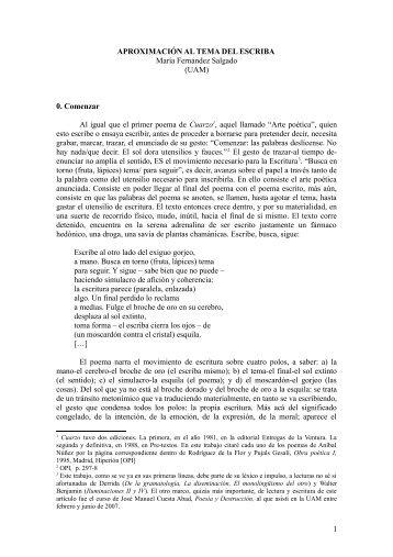 Aproximación al tema del escriba - EURACA