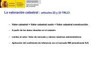 La valoración catastral: artículos 22 y 23 TRLCI