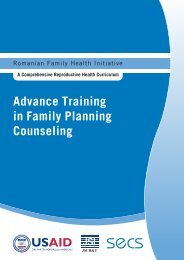 Advance Training in Family Planning Counseling - Romanian ...