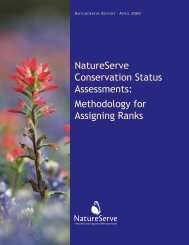 Methodology for Assigning Ranks - NatureServe