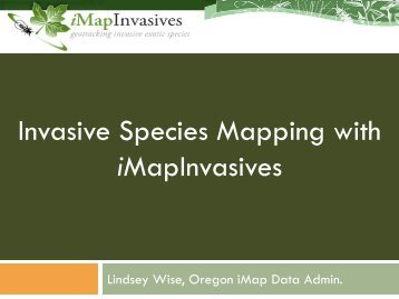 Invasive Species Mapping with iMapInvasives