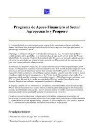 Programa de Apoyo Financiero al Sector Agropecuario y Pesquero