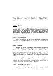 Precio Público por la Venta de Publicaciones y Ediciones Impresas ...