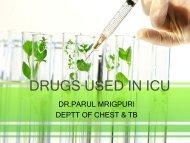 drugs used in icu - Department Of Pulmonary Medicine GMC, Patiala