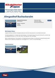 Almgasthof Buchackeralm - Hohe Salve