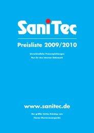 Elektronische Durchlauferhitzer - SaniTec Produkthandel GmbH