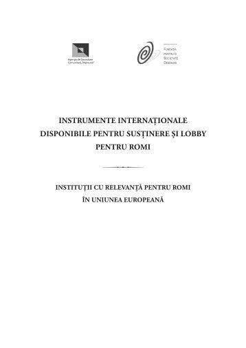 instrumente internaţionale disponibile pentru susţinere şi lobby ...