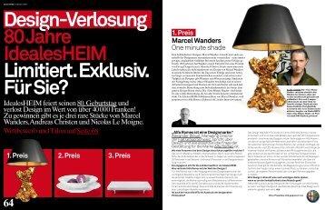 Idealesheim feiert seinen 80. Geburtstag und verlost Design im ...