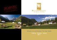 Urlaub im schönsten Tal der Welt - Hotel Dolomitenhof
