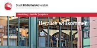 Herzlich willkommen - Stadtbibliothek Gütersloh