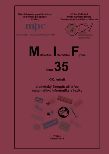 číslo 35 XIX. ročník didaktický časopis učiteľov matematiky ...
