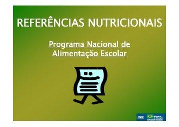 Apresentao Referncias Nutricionais Somente leitura - REBRAE ...