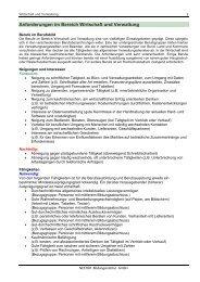 Anforderungen im Bereich Wirtschaft und Verwaltung - bildung24 ...