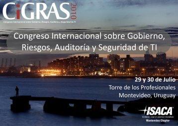 Congreso Internacional sobre Gobierno, Riesgos ... - Cybsec