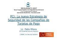 PCI: La nueva Estrategia de Seguridad de las Compañías ... - Cybsec