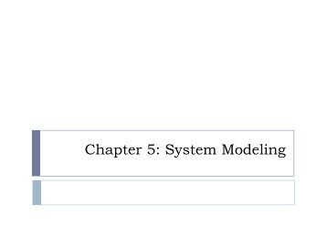 Chapter 5: System Modeling - Index of