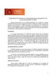 Seguridad de la Información y Continuidad de ... - Cybsec