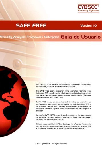 Guia Rapida SAFE FreeV7 - Cybsec