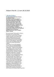 Beitrag Wabern Post - Hierophant-Verlag