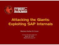 Attacking the Giants: Exploiting SAP Internals - Black Hat