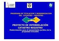 PROYECTO DE INTERRELACIÓN CATASTRO-REGISTRO