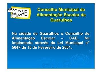 Conselho Municipal de Alimentação Escolar de Guarulhos