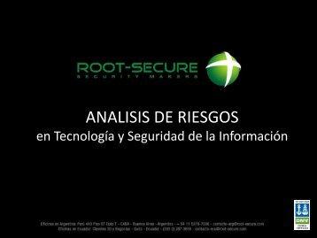 ¿Cuál es el Riesgo de TI para la Organización? - Root Secure