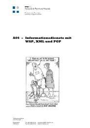 A06 – Inform ationsdienste m it W AP, X M L und PGP - Bstuder.ch