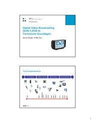 Digital Video Broadcasting (DVB-T,DVB-H ... - Bruno Studer