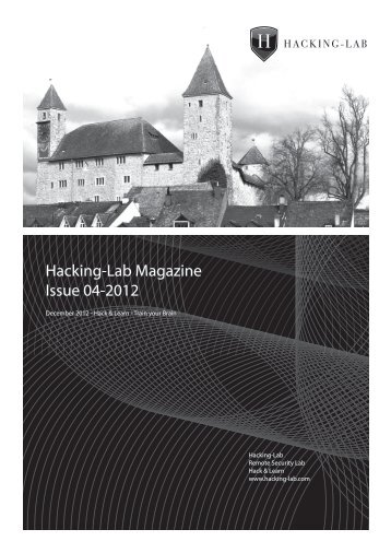 Hacking-Lab Magazine Issue 04-2012 - Hacking-Lab.com