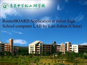 RouterBOARD Application at junior high School ... - EDCWiFi.com