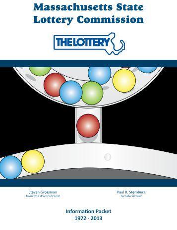 Download the Infopack - Massachusetts Lottery