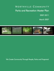 Northville Community Parks and Recreation Master Plan