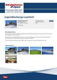 Jugendherberge Leamhof - Hohe Salve