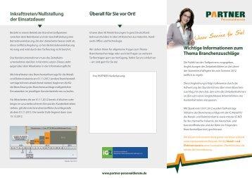 Deckelung des Branchenzuschlags - Partner Personaldienste
