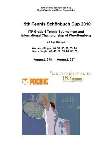 19th Tennis Schönbuch Cup 2010 - Tennisclub Weil im Schönbuch eV