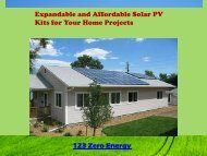 Expandable and Affordable Solar PV Kits for Your Home Projects 123 Zero Energy