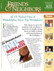 ACTS Named One of Philadelphia Areas Top ... - ACTS Retirement