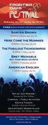 2013 Festival Flyer - Frontier Days
