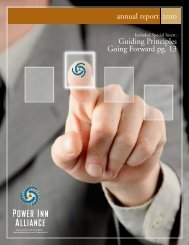 Annual Report 2010 - Power Inn Alliance