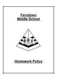 Ferndown Middle School Homework Policy