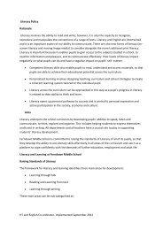 Literacy Policy - Ferndown Middle School