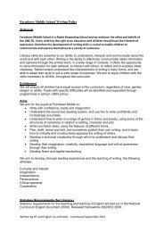 Ferndown Middle School Writing Policy Rationale