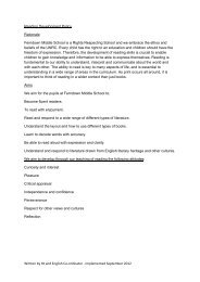 Reading Development Policy - Ferndown Middle School