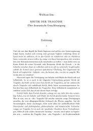 Wolfram Ette KRITIK DER TRAGÖDIE Über dramatische ...