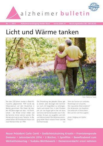 Licht und Wärme tanken – Alzheimer-Bulletin 1/2015