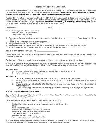 Golytely Colonoscopy Prep Instructions Intermountain